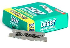 NEW Derby Platinum Single Edge Razor Blades Extra Sharp Barbers Wet Shaving 100