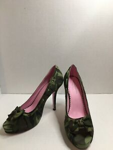 Leg Avenue Shoes, Licensed By Ellie, LA420-Army, Camo Color Size 9