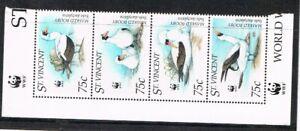 St Vincent 1995 set WWF/birds stamps (Michel satz 3073/76) MNH