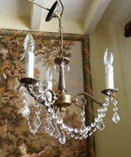 Vintage French Rococo brass chandelier  ~ Small & Pretty