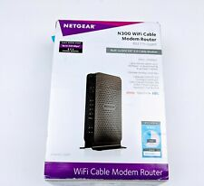 NETGEAR N300  WiFi  Cable Modem Router Model C3000 New-openbox