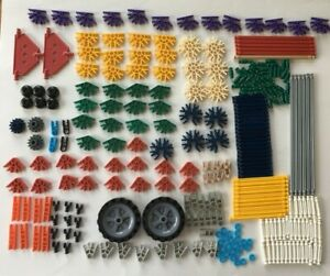 K'Nex Bundle Yellow Storage Case Box-Construction Toy Wheels Rods KNEX 278 Piece