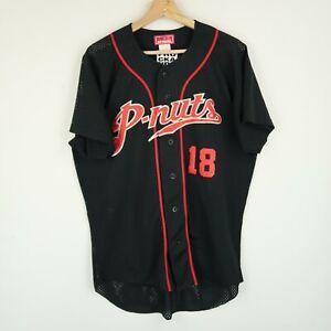 Vintage Japanese baseball shirt jersey retro SZ M-L (G022)