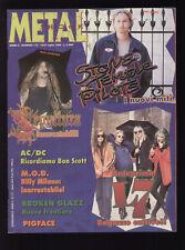 METAL SHOCK 172/1994 L7 AC/DC SEPULTURA M.O.D. + POSTER PANTERA / PRIDE & GLORY