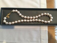 "Vintage Miriam Haskell Baroque Pearl Necklace Signed 16"" (40.5cm)"