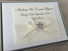 PERSONALISED WEDDING GUEST BOOK PERSONALISED IVORY WEDDING GUEST BOOK