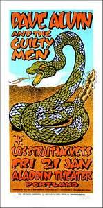 Dave Alvin & the Guilty Men Poster Original Signed Silkscreen Gary Houston