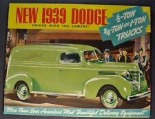1939 Dodge 1/2 3/4 1-Ton Truck Brochure Pickup Panel Stake Excellent Original 39