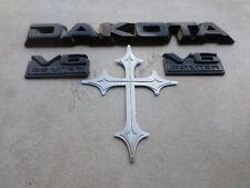 87-90 Dodge Dakota V6 3.9 Liter Decorative Logo 4357061 Emblem 4357096 Decal Set