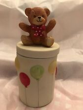 Lucy and Me Bear On Balloon Jar; Free Shipping !