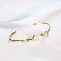 Lovely Wholesale 18K Gold Filled White Opal Crystal Bracelet