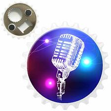 Line Art Stage Microphone Bottle Opener Fridge Magnet