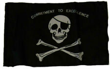 "12x18 12""x18"" Jolly Roger Pirate Commitment Excellence Sleeve Flag Garden"