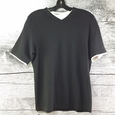 Denver Hayes Men's T-Shirt Black with White Insert Size Small
