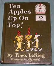 RARE COVER Ten Apples Up On Top (Beginner Books) by Theo LeSieg (HC,1989)