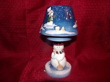 Home Interiors # 55024 Winter Wonder Land Ceramic Candle Lamp & Shade Set New