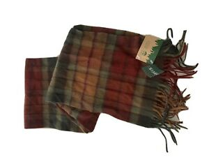 NWT Orvis 100% lambswool Plaid scarf