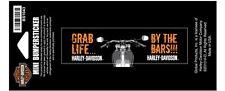 "Harley-Davidson Aufkleber/Decal ""Grab Life by the Bars"" Aufkleber *BS1043*"