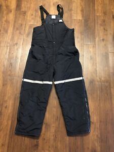 FedEx Stan Herman Insulated Bib Overalls Pants Uniform Reflective Size XL-R