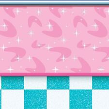 Fifties Diner 50s SODA SHOP BACKDROP Grease Party Decoration SOCKHOP PHOTO BOOTH