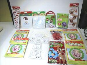 Christmas Craft Kit Lot Kids Toys Foam Ornaments Coloring Felt Puzzle NEW