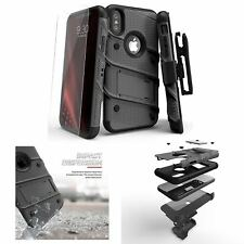 iPhone X Case Military Grade Shockproof with Screen Protector Holster Belt Clip