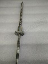 Ant-backlashed Ballscrew RM2505--700mm Ballscrew & RM2505 Ball  nut&End Mechined