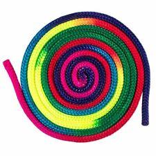 Rainbow Color Rhythmic Gymnastics Rope Portable Dance Arts Training Equipment