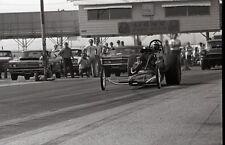 Front Engine Dragster - Driver Helmet Name 'Hunter' - Vintage 35mm Race Negative