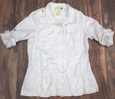 NEW Da-Nang Surplus Blouse Roll Sleeves BLEACHED WHITE SKG2378 X-SMALL XS