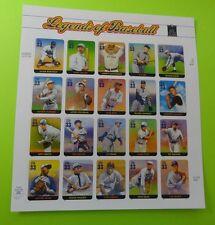 Stamps US * SC 3408 * Legends of Baseball * 2000 * 33c * MNH * Sheet of 20