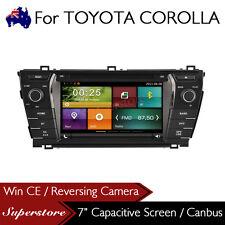 "7"" Car DVD GPS Head Unit Stereo Radio Nav FOR TOYOTA COROLLA sedan 2014-2016"