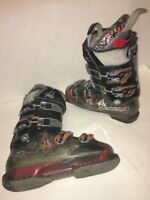 NORDICA Hot Rod HR-Pro 125 Men's Ski Boots 8 US 26 Mondo Cleat Black Gray