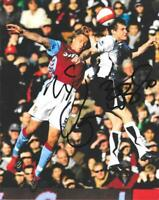 BRIAN McBRIDE FULHAM LEGEND SIGNED 10 X 8 PHOTO - Dual Signed with Laursen