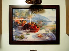 Art Landscape Fruit Grape Mural Ceramic Decor Backsplash Tile #43