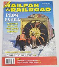 Railfan & Railroad Magazine Back Issue February 2017 Plow Extra