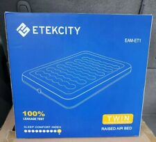 Etekcity Camping Air Mattress Inflatable Airbed Blow up Bed Tent  Twin