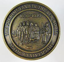 1970 Pilgrims Land in the New World 350th Anniversary Token Bronze Medal