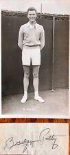 Budge PATTY American Homme Tennis Champion. Vintage autographe & PROMO Carte