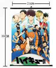 Anime Haikyuu high school volleyball Wall Poster Scroll Home Decor Cosplay 1172