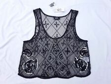 Evening, Occasion Textured Crop Tops for Women