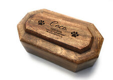 Personalised Pet Memorial Ashes Urn Cremation Medium Casket - Dogs Cats Hamster