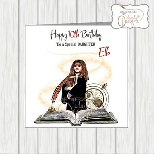 Personalised Harry Potter Hermione Birthday Card Daughter Granddaughter Sister
