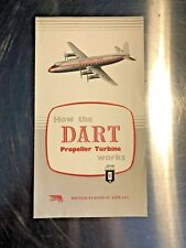 BEA Vickers Viscount Rolls Royce Dart Turboprop Information Booklet  - Vintage