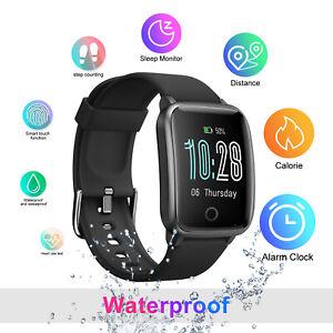 Smart Waterproof Wristband Bracelet Watch Heart Rate Tracker Fitness Phone Mate