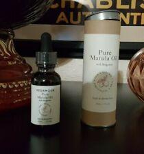 VEGAMOUR Pure Marula Oil for Skin - Hair - Body 30ml/1oz Bergamot Scented + GIFT