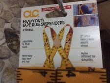 NWT Contractor heavy duty tape ruler suspenders only $12.99!