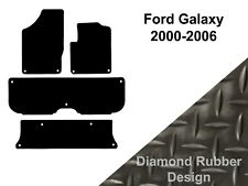 Ford Galaxy (2000 to 2006) Fully Tailored Black 3mm Thick Rubber Car Floor Mats