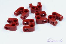 LEGO Technik - 6 x U - Verbinder dunkelrot / 2 x Loch 2 x Achsloch 41678 NEUWARE