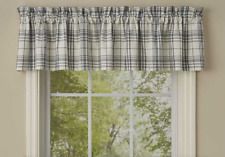 "Park Designs SIMPLICITY Plaid Unlined Window Valance 72""x14"" Ivory, Gray"